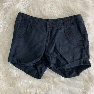 Juicy Couture Black Linen Shorts Size Small Chinos